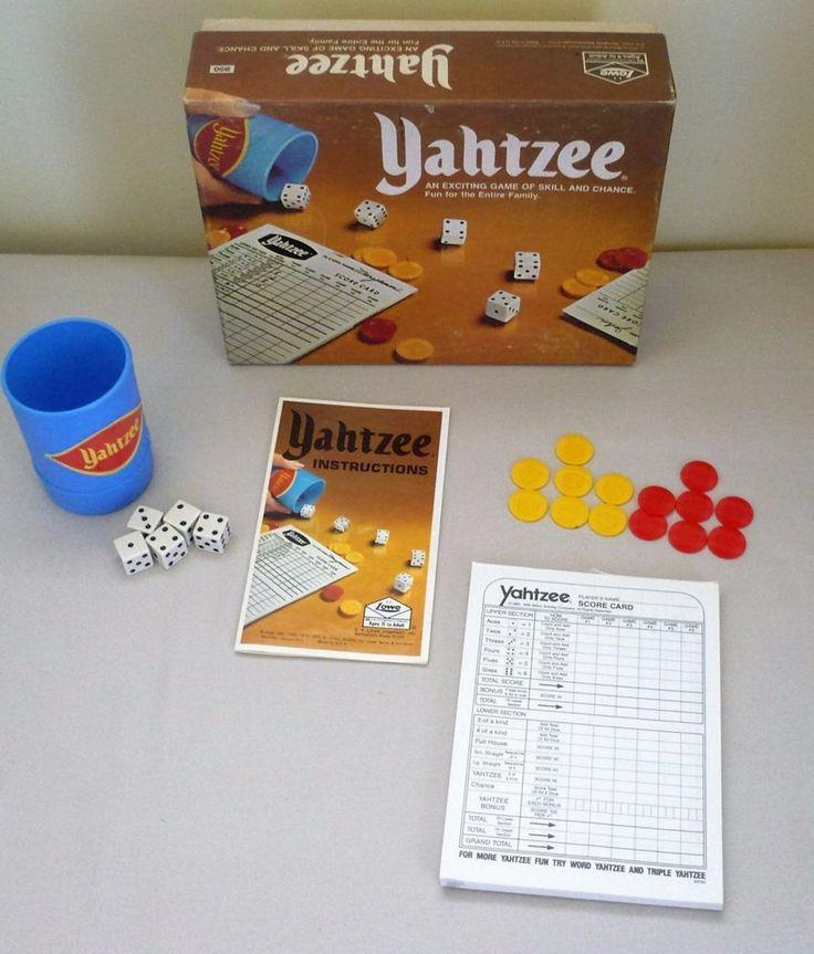 1975 YAHTZEE Game - COMPLETE #ESLowe #Yahtzee