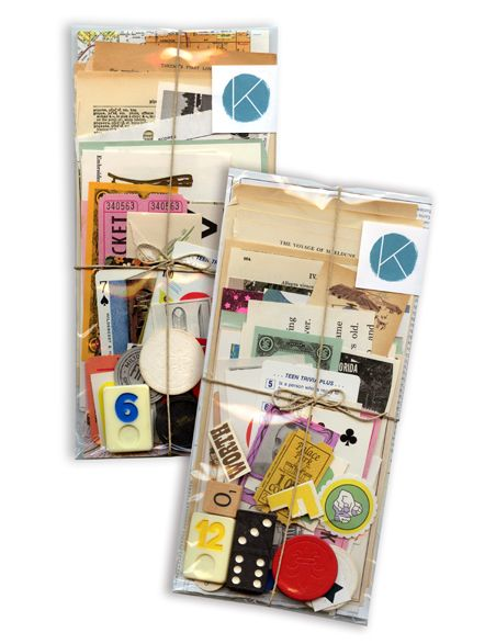 Assorted ephemera packs contain a plethora of fun vintage items, such game pieces, cards, maps and other cool paper goods. Each pack is a surprise, but all vintage. Packaging measures 4.75 x 9.5.in.