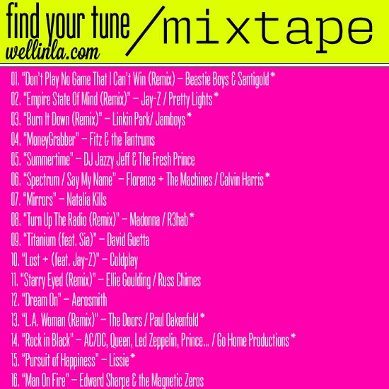 WELL IN LA PLAYLIST >>> check out the dropbox link! #Workout #Music