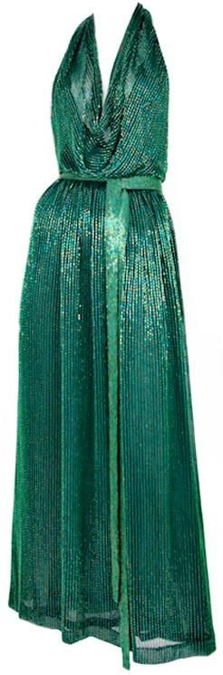 Halston, 1970s dress. An authentic look for a disco party. See more disco fashion at www.sparklerparties.com/studio-54