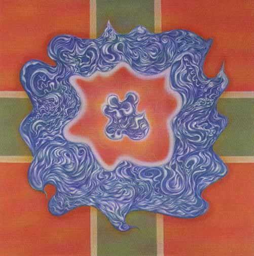 Lotus - lithograph by Benjamin Creme.
