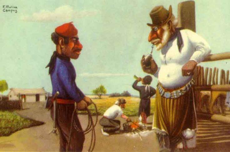 Molina Campos  y sus pinturas costumbristas gauchescas