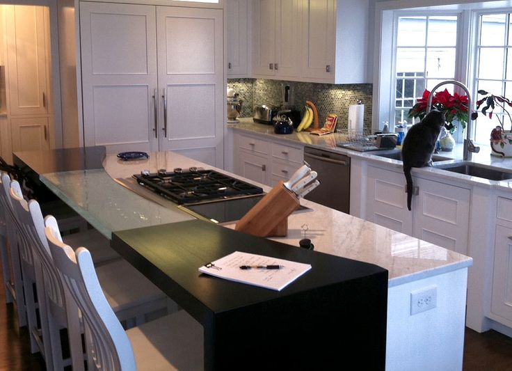 Ash Wood Countertop With Dark Stain In Willoughby Hills Ohio  Https://www.glumber.com/ | Kitchen Islands With Wood Countertops |  Pinterest | Wood Countertops ...