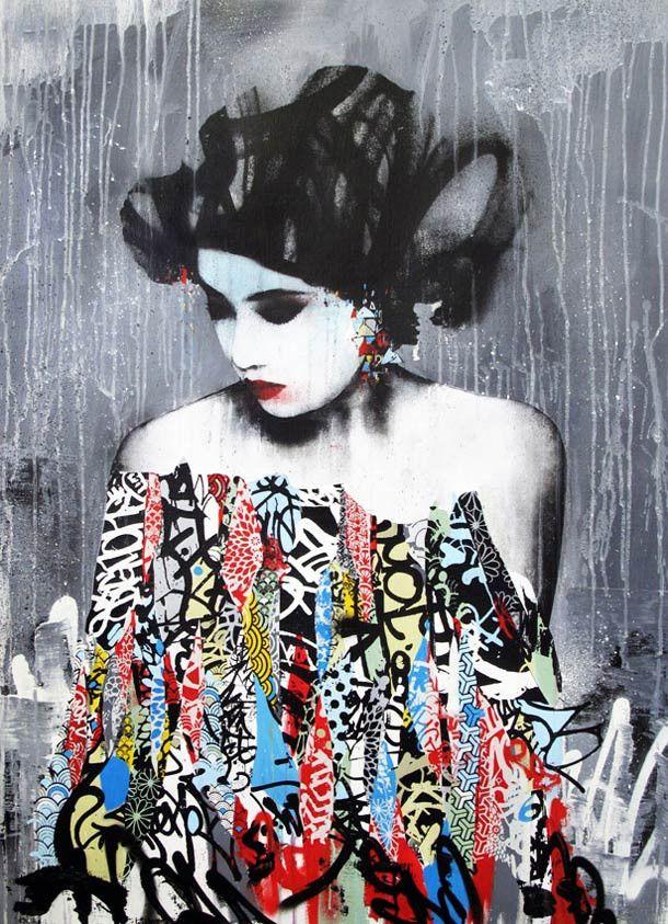 Street Art-HUSH: la synthèse de l'orient et de l'occident - http://www.blog.stripart.com/art-urbain/hush-street-art/