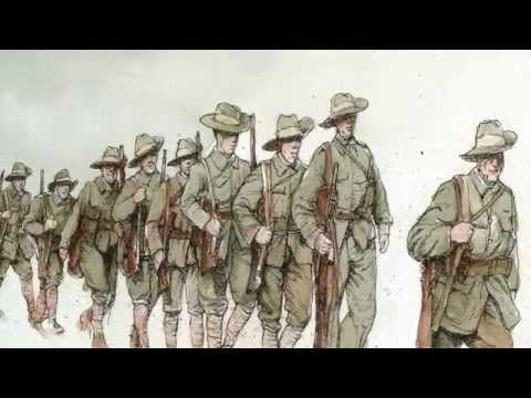 ▶ And the Band Played Waltzing Matilda Book Trailer - YouTubeThe iconic song about the Battle of Gallipoli, written by Eric Bogle in 1972 at the height of the anti-war movement. And now Bruce Whatley's evocative illustrations bring a heart-rending sense of reality to the tale.