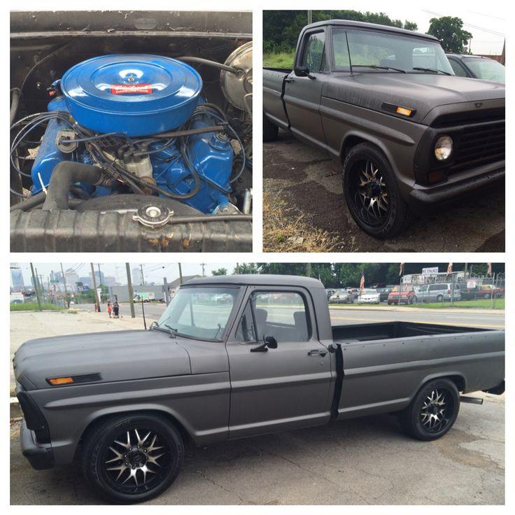 "1967 Ford F100 V8 390 | 20"" custom wheels Satin Charcoal Grey #Ford #Rebuilt…"
