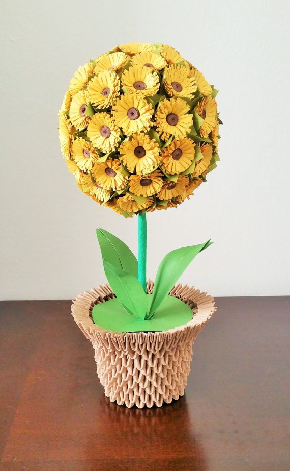 Flower Ball / Paper Sunflower Ball / Paper by BeigePaperCrafts