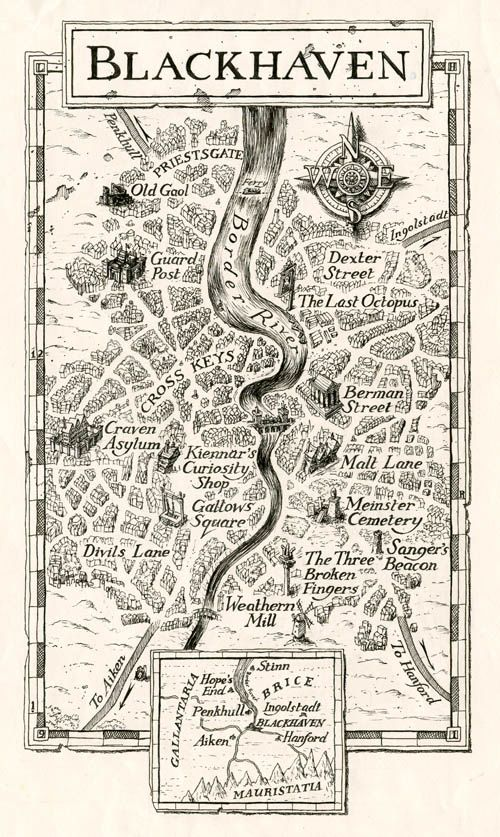 Leo Hartas - Art and Illustration - Fighting Fantasy  Black Haven map.  How cool is that!