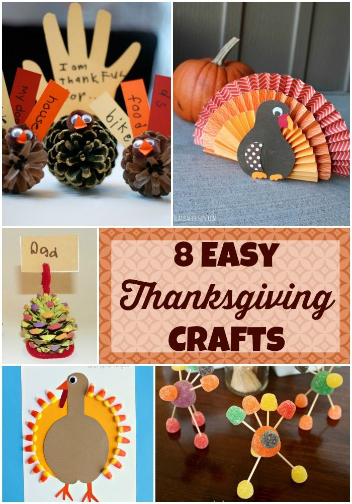 8 easy thanksgiving crafts for kids thanksgiving