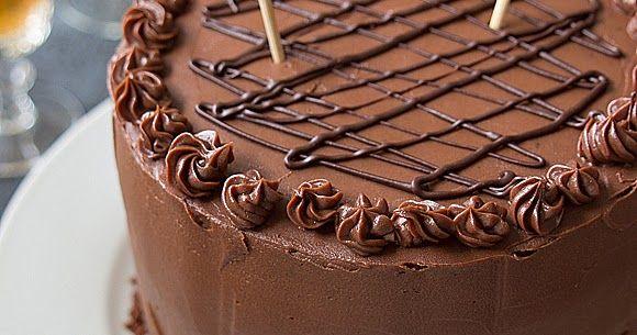 La mejor torta de chocolate, con crema de menta y cubierta de chocolate y dulce de leche