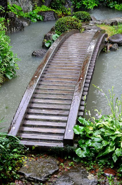 Samurai House Pond Bridge by pokoroto, via Flickr