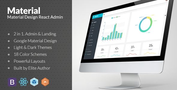 Web app and Material Design ReactJS Admin
