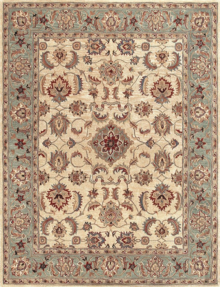 South Shore Decorating: Loloi Rugs MAPLMP-25BE Maple Beige-Green Traditional Hand Tufted Rug LLR-MAPLMP-25BE