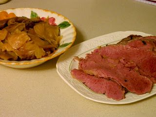 Ginny's Low Carb Kitchen: Apple Cider Corned Beef and Cabbage