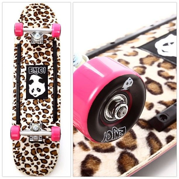 #Enjoi #skateboard set with animal print flocking on the underside. I just want it for my walls