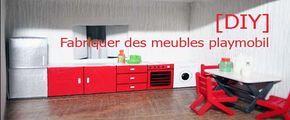 Depuis que dans la nouvelle maison playmobil (tutoriel fabriquer une maison playmobil) les sols sont posés, le papier peint collé et les fenêtres percées et munies de volets, il faut se rendre à l&…
