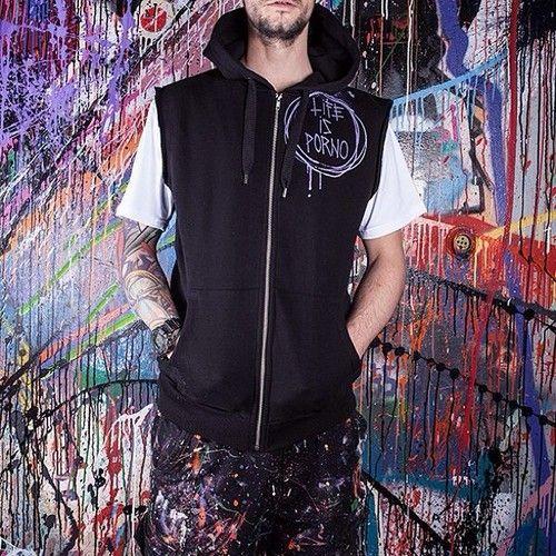 Heavy metal hoodie vest for them streets. www.lifeisporno.com #fashion #art #streetwear #design #lifeisporno #brand #wear