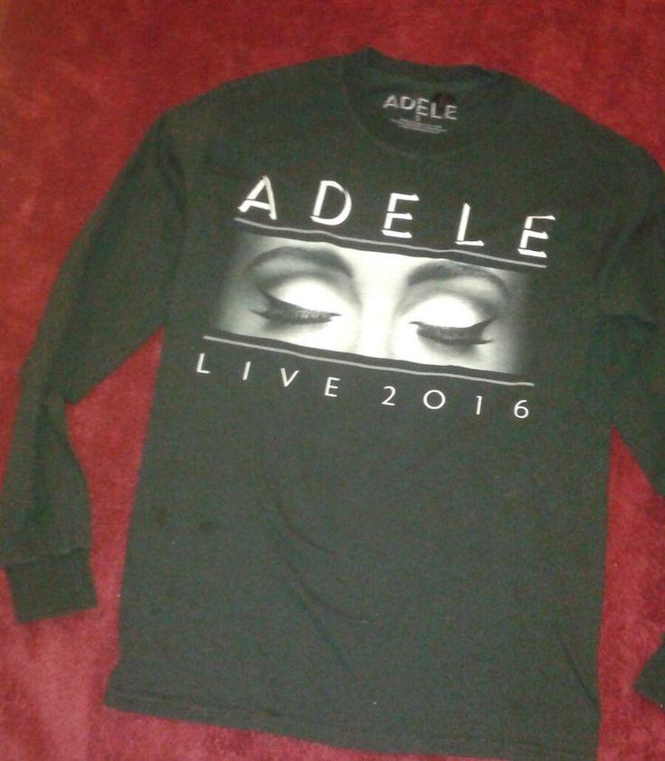 Adele 2016 Tour  Long Sleeved Shirt Sz S Concert Tour Music