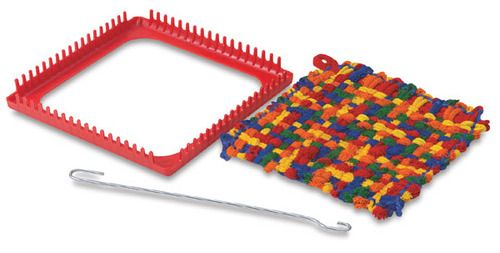 Potholder loom aka what you made for your entire family for Christmas gifts