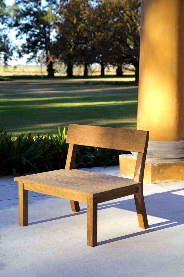 Silla de madera Ramona, para exterior o interior - Las Marinas muebles www.lmarinas.com.ar