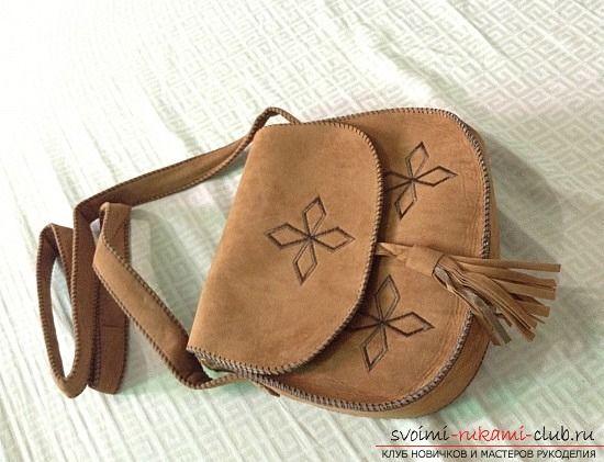 Как сшить красивую сумку через плечо своими руками. Фото №1