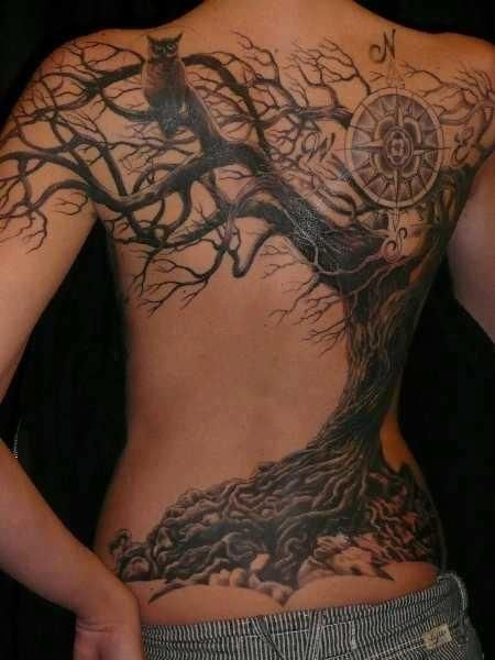 tree tattoo - i absolutely love this