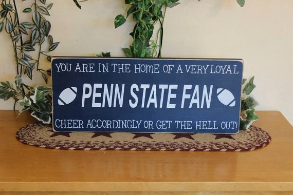 "Primitive ""You are in the home of a loyal fan - cheer accordingly or get the hell out"" - you pick team - football, baseball, basketball, etc on Etsy, $19.99"