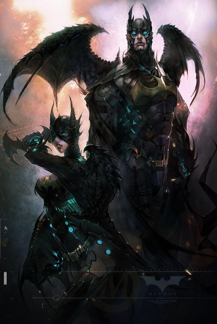 Demon Batman & Batgirl | X-xARTSx-X | Pinterest | Batman ...