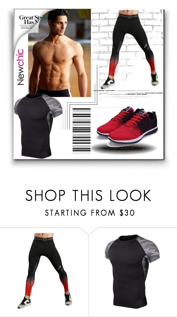 """""""Mens High-elastic Quick Dry Jogging Tights Gym Pants Bodybuilding Skinny Legging Trousers"""" by pavicmartina ❤ liked on Polyvore featuring WALL, F, men's fashion and menswear"""