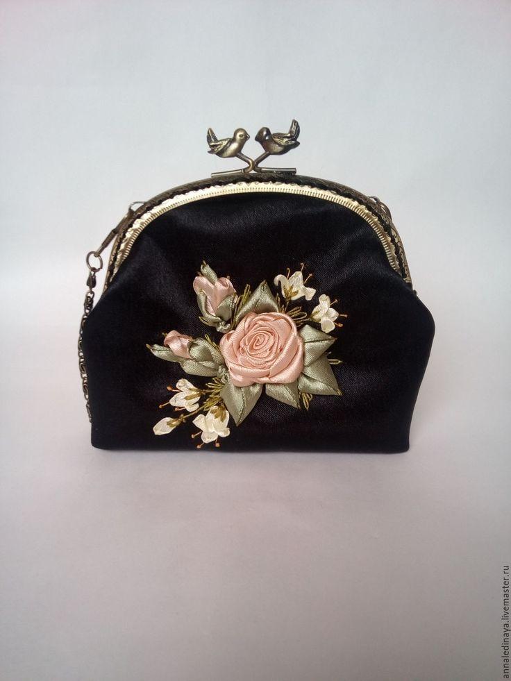 Купить Косметичка с фермуаром - театральная сумочка, косметичка с фермуаром, сумочка с фермуаром, косметичка, кошелек