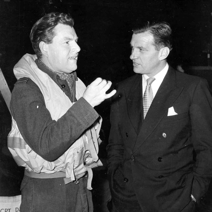 Kenneth More with RAF Ace Pilot Johnny Johnson