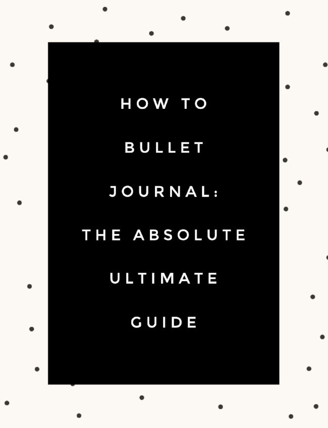 How to bullet journal: the absolute ultimate guide. Loved this article! Made it sound way less intimidating
