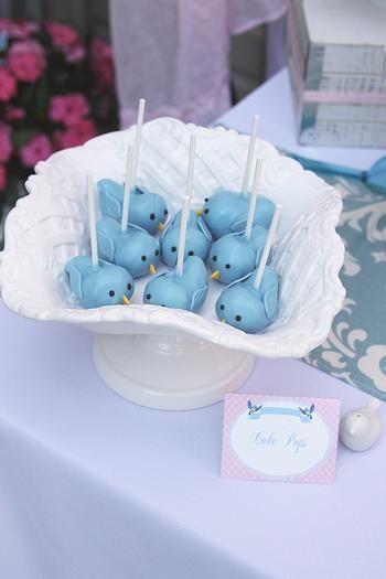 cake pops oiseaux