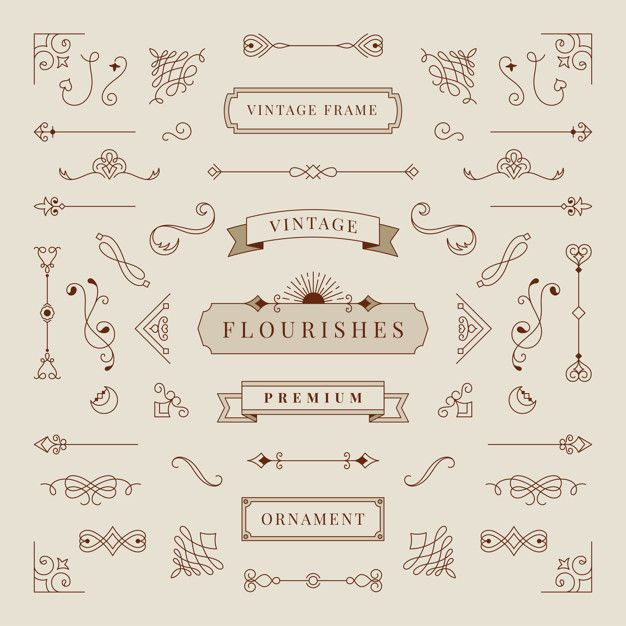Download Collection Of Vintage Ornament Frame Illustration For Free Ornament Frame Vintage Ornaments Vector Free