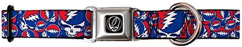 Grateful Dead Psychedelic Rock Band Red White Blue Collage Seatbelt Pet Collar * Visit the image link more details.