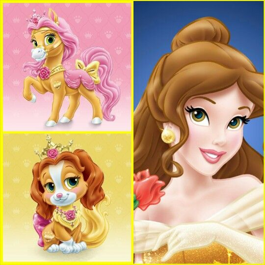 Belle with Petit (pony) & Teacup (puppy) | Disney Palace Pets                                                                                                                                                     Más