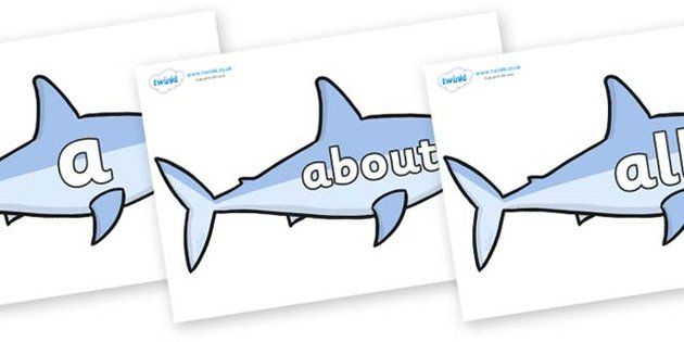 100 High Frequency Words on Sharks