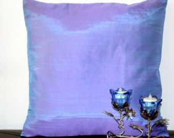 Throw Pillow Set of 2 Combo Set Purple Silver by TheHomeCorner