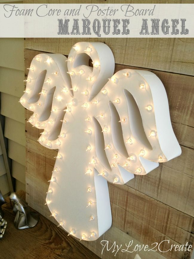 Foam Core and Poster Board Marquee Angel