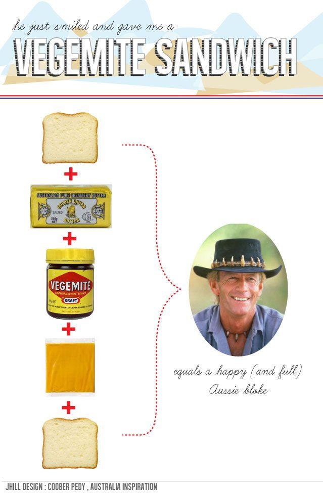 Vegemite sandwich - YUM!!! Australian wining and dining.