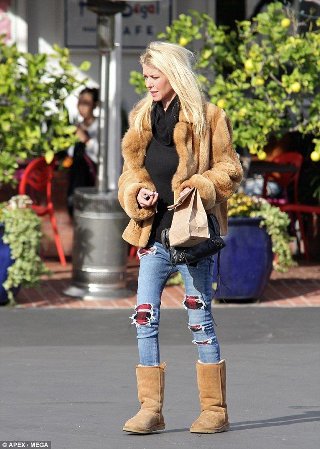 Grieving: Tara Reid stepped out in public for the first time since the devastating news th...