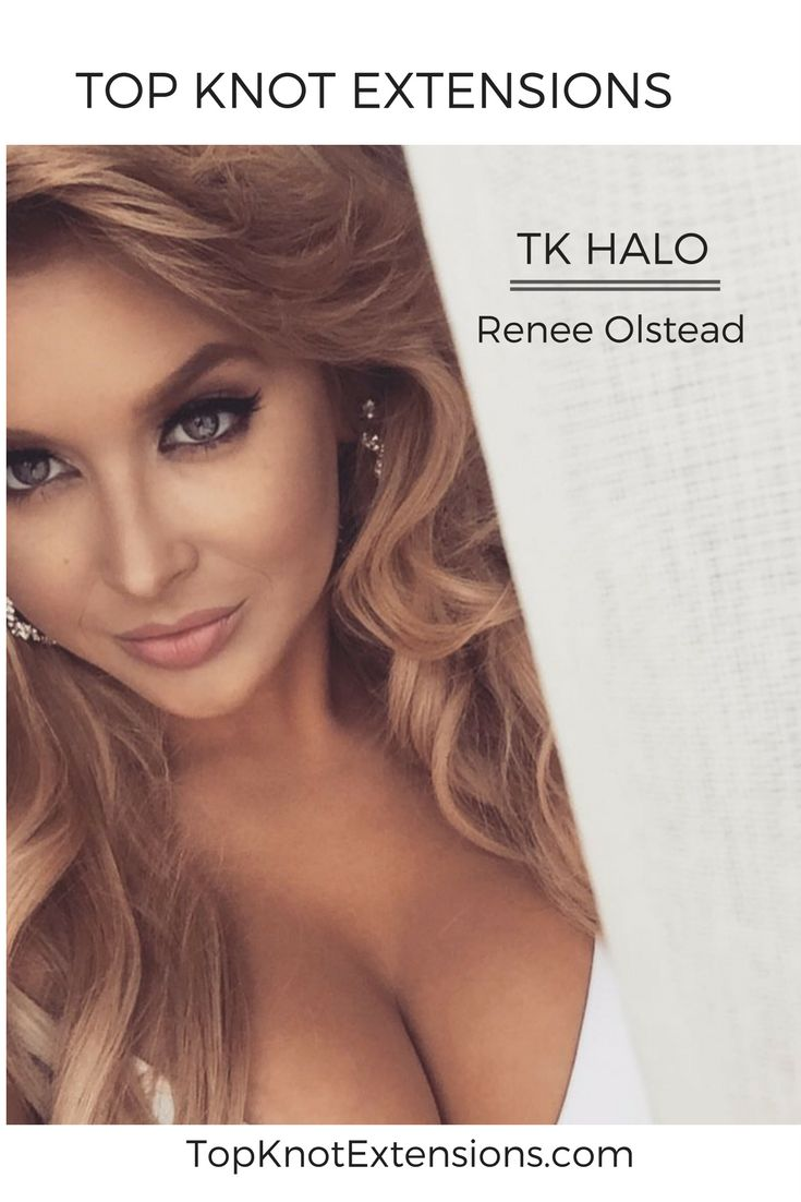 Top Knot Extensions TK Halo in color 27/613 @renee_olstead
