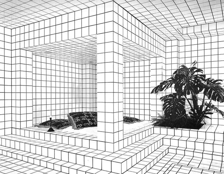 """La Maison de Jean-Pierre Raynaud proposait un """"cadre"""" artistique contemporain unique pour étudier (contempler) et donc comprendre comment fonctionnent et encore s'hybrident les relations entre :+) """"architecture"""", """"dessin"""", """"mise au carré"""", """"perspective"""" et """"paysage""""."""