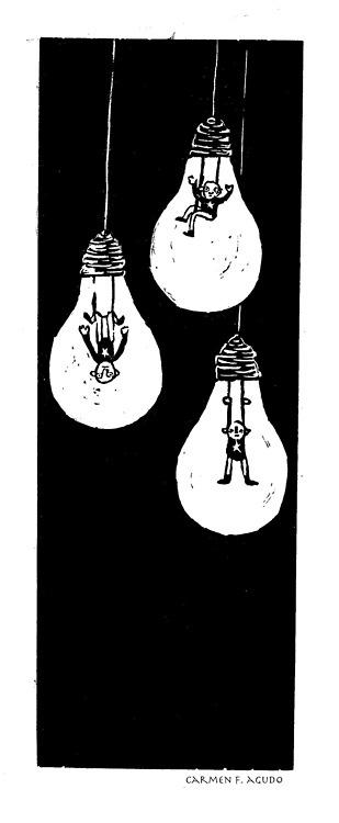 Alta Tensión - linóleo -  Carmen F. Agudo      Título:alta tensión              Técnica:Linograbado              Tamaño estampa:12x36              Tamaño papel:25x50              Edición:20                                disponible (available)
