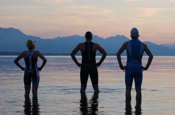 """#Chiemsee #Triathlon: Startnummern und Bademützenfarben der """"#GolfResortAchental #Mitteldistanz"""" #CST2014 #Chieming #Bayern"""