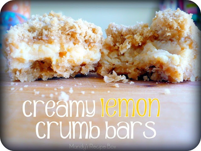 Lemon crumb bars :-): Lemon Crumb, Bar Mandysrecipebox, Recipes Boxes, Savory Recipes, Tasti Tuesday, Crumb Bar, Mandy Recipes, Creamy Lemon, Lemon Bar