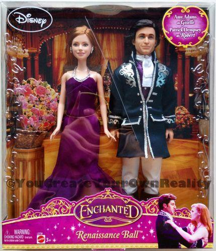 RARE 2007 Mattel Disney Enchanted Renaissance Ball Giselle & Robert Barbie Dolls