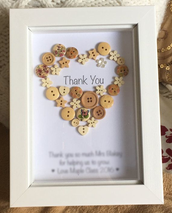 Thank you Button Picture - Thanks / Teacher / Friend / Colleague / Staff / Tutor / Nursery / Assistant / End of Term / Leaving Gift