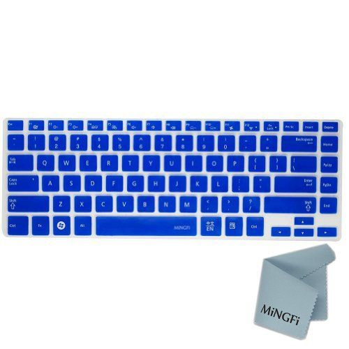 MiNGFi Silicone Keyboard Cover Protector Skin for Samsung Q470 700Z4AH 530U4B 535U4C 700Z4A 900X4C 900X4D US Keyboard Layout - Translucent Blue