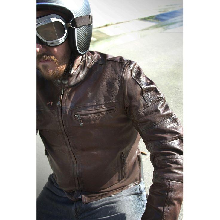 Shop For Roland Sands Ronin Leather Jacket Tobacco Cafe Racer Vintage Style Leather Motorcycle Jacket From Roland Sands Design
